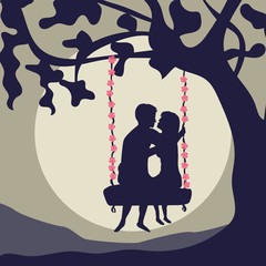 Couple on a swing