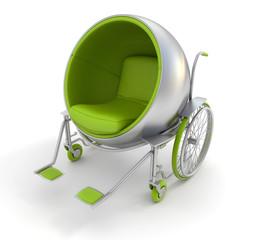 Cool green wheelchair