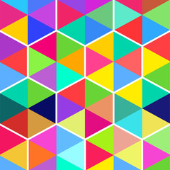 pattern of hexagons from color triangles