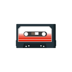 Cassette retro. Vector icon illustration, flat design