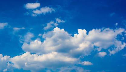 beautiful background bright blue sky with white clouds