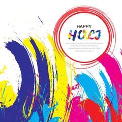 happy holi festival illustration