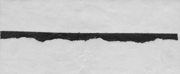 Abstract landscape – black and white minimalist art illustration. Contrast achromatic craft paper...