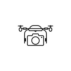 quadcopter, drone, camera, photography icon. Element of quadrocopter icon. Thin line icon for website design and development, app development. Premium icon