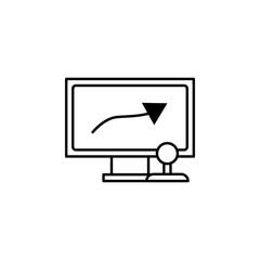 remote control, monitor, drone icon. Element of quadrocopter icon. Thin line icon for website design and development, app development. Premium icon