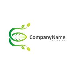 Leaf Letter E Logo