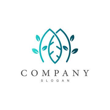 Leaf Letter M Logo
