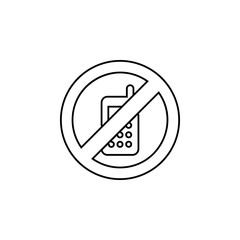 Phone ban, forbiddance icon. Simple thin line, outline vector of Ban icons for UI and UX, website or mobile application