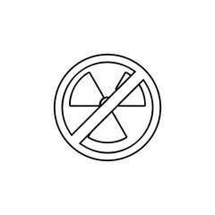 ban, forbiddance radiation, emitting, emanation icon. Simple thin line, outline vector of Ban icons for UI and UX, website or mobile application