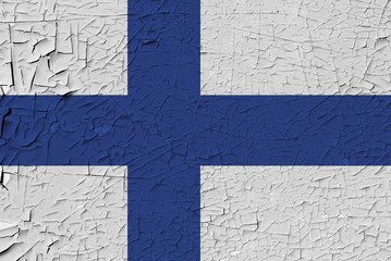 Finland painted flag