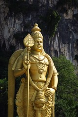 Statue de Murugan grotte de Batu