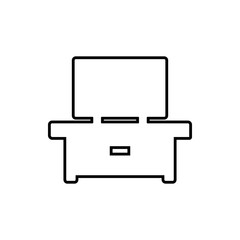 tv table furniture glyph icon. Element of Furniture for mobile concept and web apps icon. Thin line icon for website design and development, app development