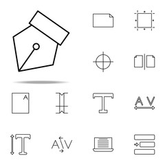 editorial, pen tool icon. editorial design icons universal set for web and mobile