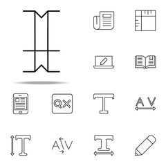 editorial, type icon. editorial design icons universal set for web and mobile