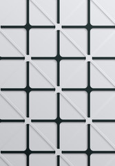 Abstract background with white and black geometric textured pattern.
