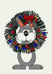 Wreath Bunny