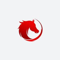 View Back Side Horse logo design