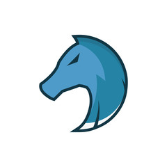Horse character logo