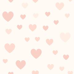 Rose heart pattern. Seamless vector