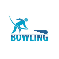 Vector People Bowling Logo