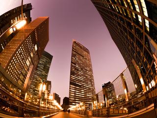 Fototapete - 汐留の高層ビル街
