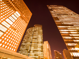 汐留の高層ビル街
