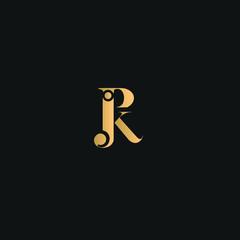 P I K J Logo Vector. Golden text color on black background.