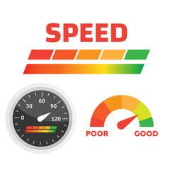 Car dashboard gauge. Speed meter vector. Arrow auto barometer