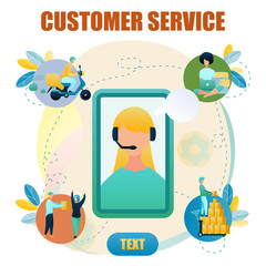 Banner Illustration Customer Service Online Store