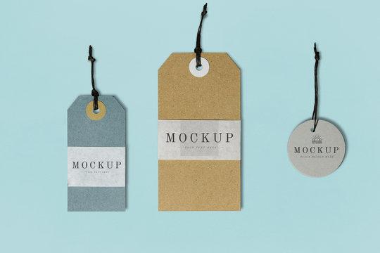 Premium quality clothing label mockup