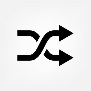 Arrow shuffle icon vector random symbol for your web site design, logo, app, UI.illustration