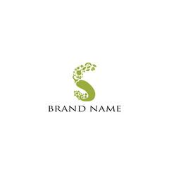 green leaf logo type s