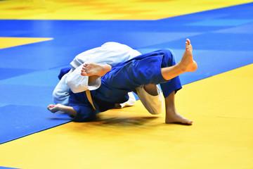 Autocollant pour porte Super heros Boys compete in Judo