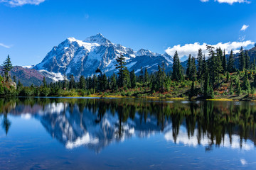 lake in the mountains Wall mural