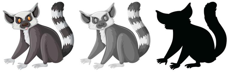 Set of lemur character