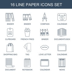 16 paper icons