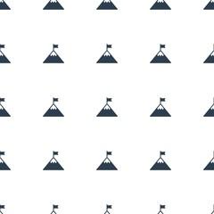 flag on mountain icon pattern seamless white background