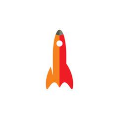 Cartoon rocket icon