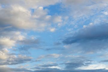 dramatic cloud on blue sky