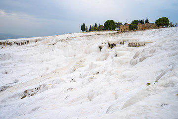 Wall Mural - Pamukkale cotton castle in Denizli, Turkey