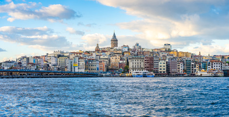 Wall Mural - Galata Tower with Istanbul city in Istanbul, Turkey