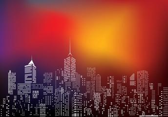 city blur color sky