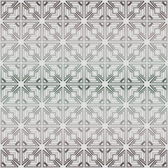 Abstract Vector Seamless Pattern With Abstract Geometric Style. Repeating Sample Figure And Line. Grey, green color