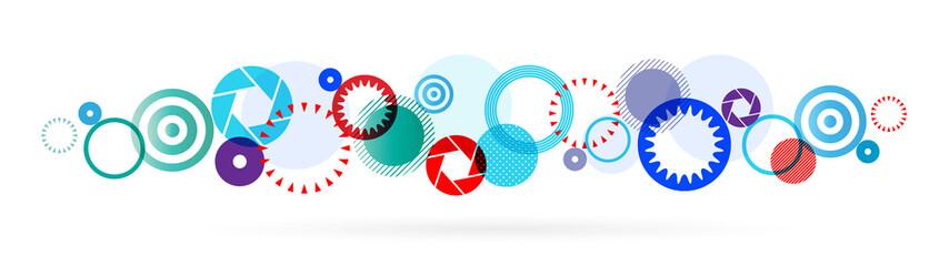 Frises de cercles colorés