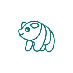 Happy zoo illustration