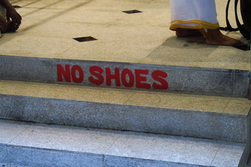 No shoes
