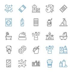 wash icons set