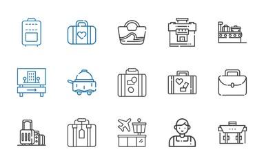 suitcase icons set