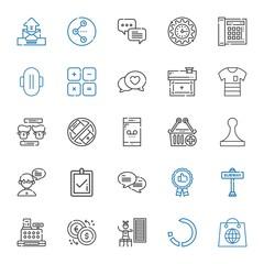 button icons set