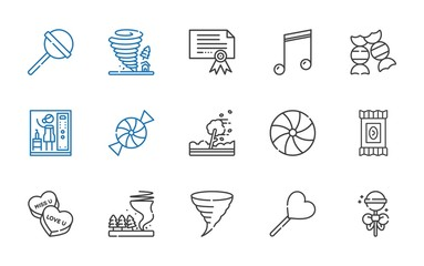 swirl icons set
